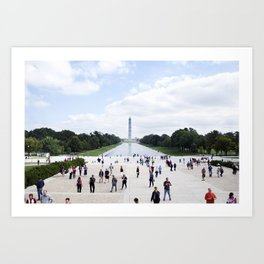 Sunny Day on the National Mall Art Print