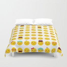 Cheeky Emoji Faces Duvet Cover