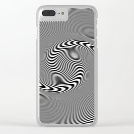 Illusion spirale Clear iPhone Case