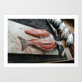 Salmon Fillets Art Print