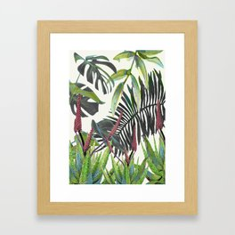 Watercolor Plants II Framed Art Print
