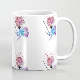 under the seashells, water colour and ink design. Coffee Mug