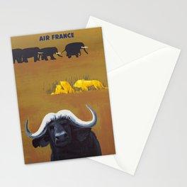 Afrique -  Vintage Air France Travel Poster Stationery Cards