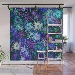 Eden Floral Blue Wall Mural