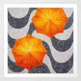 Rain in Copocabana Art Print