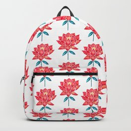 Sacred Lotus – Red Blossom Backpack