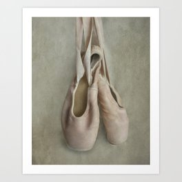 Creamy pink ballet shoes Art Print