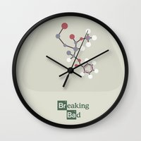 movie poster Wall Clocks featuring Breaking Bad - Movie Poster by Stefanoreves