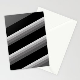 Simple black and white striped pattern . Oblique stripes . Stationery Cards