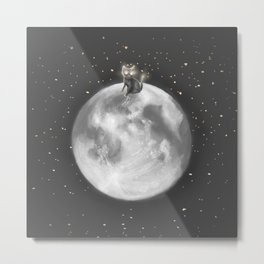 Lost in a Space / Moonelsh Metal Print