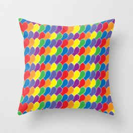 Pride Heart Scale Pattern Throw Pillow