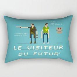 Pixel Art Tribute to Le Visiteur Du Futur Rectangular Pillow
