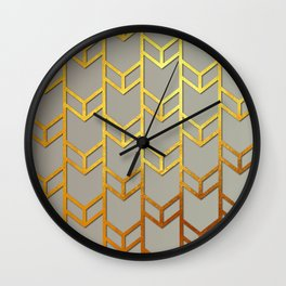 Cubes Of Arrows Wall Clock