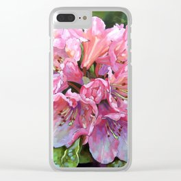 Courtenay Lady Rhododendron Clear iPhone Case