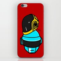 daft punk iPhone & iPod Skins featuring Daft Punk by Alli Vanes