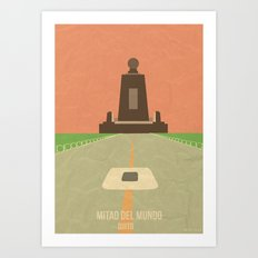 Landmarks: Middle of the World, Quito Art Print