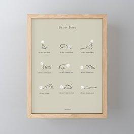 Better Sleep Framed Mini Art Print