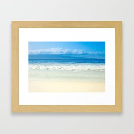 Beach Blue Kapalua Golden Sand Maui Hawaii Framed Art Print