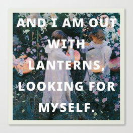 looking for myself Canvas Print
