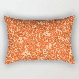Ampersands - Orange Rectangular Pillow