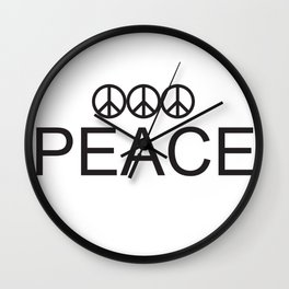 3 Peace Wall Clock