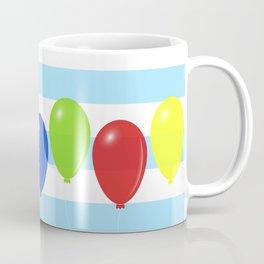 Balloons on striped background Coffee Mug