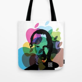 Lab No. 4 - Steve Jobs Inspirational Typography Print Poster Tote Bag