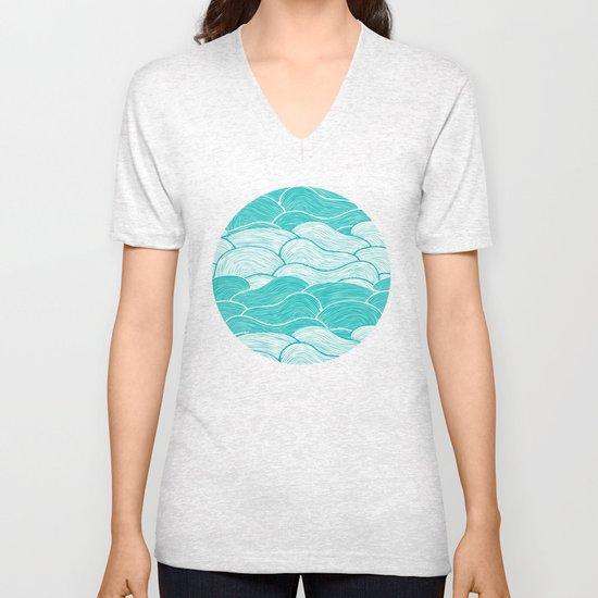 The Calm and Stormy Seas Unisex V-Neck