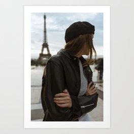 Girl in Paris Art Print