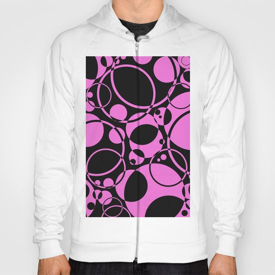 Black and pink bubbles pattern Hoody
