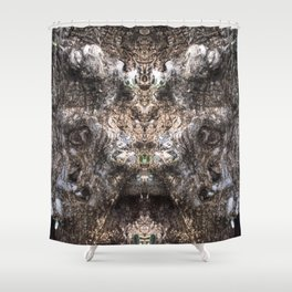 Hungry Hallow Tree Shower Curtain