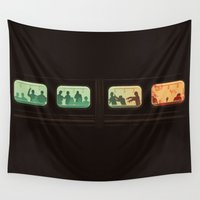 subway Wall Tapestries featuring Ground Zero - Zombie Subway by Picomodi