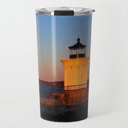 February Sunset at Bug Light (4) Travel Mug
