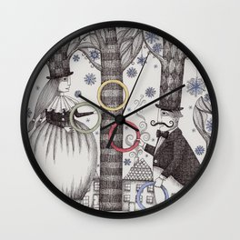 Winter Circus Wall Clock