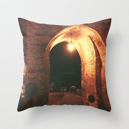 Night in Downtown Montefiore dell'Aso (1 of 2 color choices) Throw Pillow