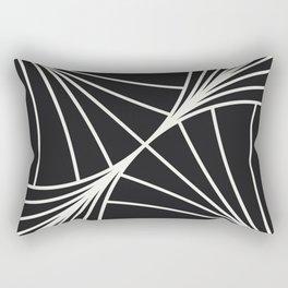 Diamond Series Round Wave White on Charcoal Rectangular Pillow