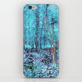 Van Gogh Trees & Underwood Turquoise & Amethyst iPhone Skin