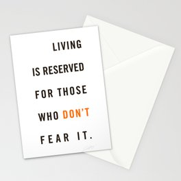 Live Unafraid Stationery Cards