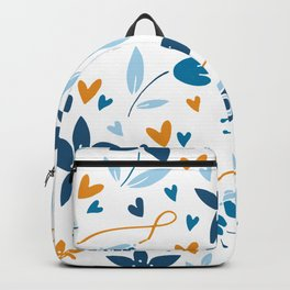floral & photo Backpack