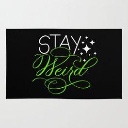 Stay Weird (Dark) Rug