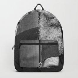 Vintage bearded man Backpack