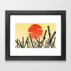 Katana Junkyard Framed Art Print