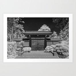 Japanese Tea Garden Gate, Golden Gate Park, San Francisco, California Art Print