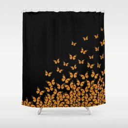 Imperial Butterfly Dark Shower Curtain