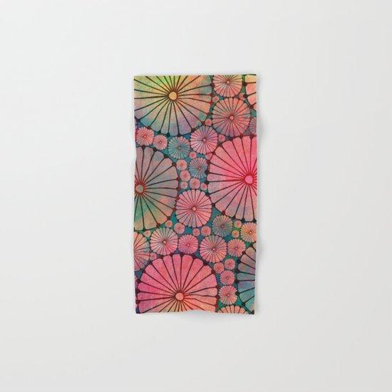 Abstract Floral Circles Hand & Bath Towel