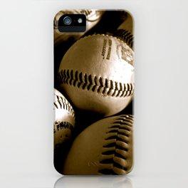 Baseball Days in B&W iPhone Case