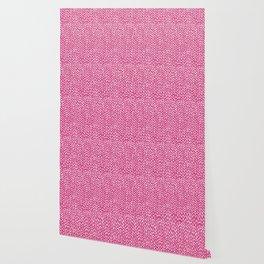 Hand Knit Hot Pink Wallpaper