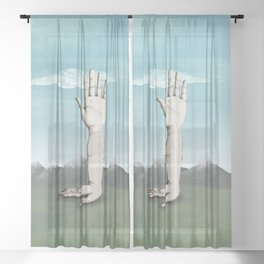 Hands Sheer Curtain