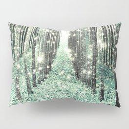Magical Forest Seafoam Green Gray Pillow Sham