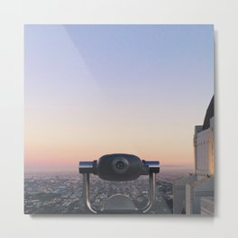 Griffith Observatory Lookout Metal Print